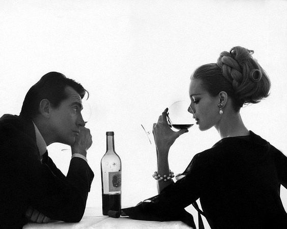 Walter Chiari and Monique Chevalier by Bert Stern for Vogue April, 1962